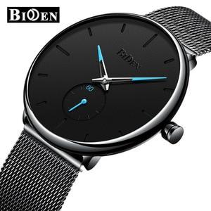 Image 1 - BIDEN Mens Analog Quartz Watches Men Luxury Business Watch Fashion Simple Wristwatch Male Waterproof Clock Relogio Masculino