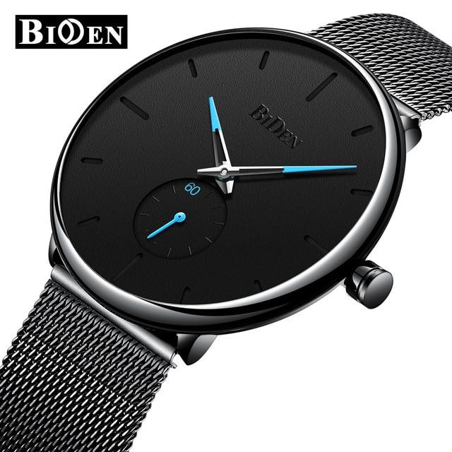 BIDEN Mens Analog Quartz Watches Men Luxury Business Watch Fashion Simple Wristwatch Male Waterproof Clock Relogio Masculino