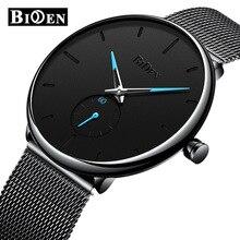 Relojes de cuarzo analógicos BIDEN para hombre, reloj de negocios de lujo, reloj de pulsera Simple de moda, reloj impermeable para hombre, reloj Masculino