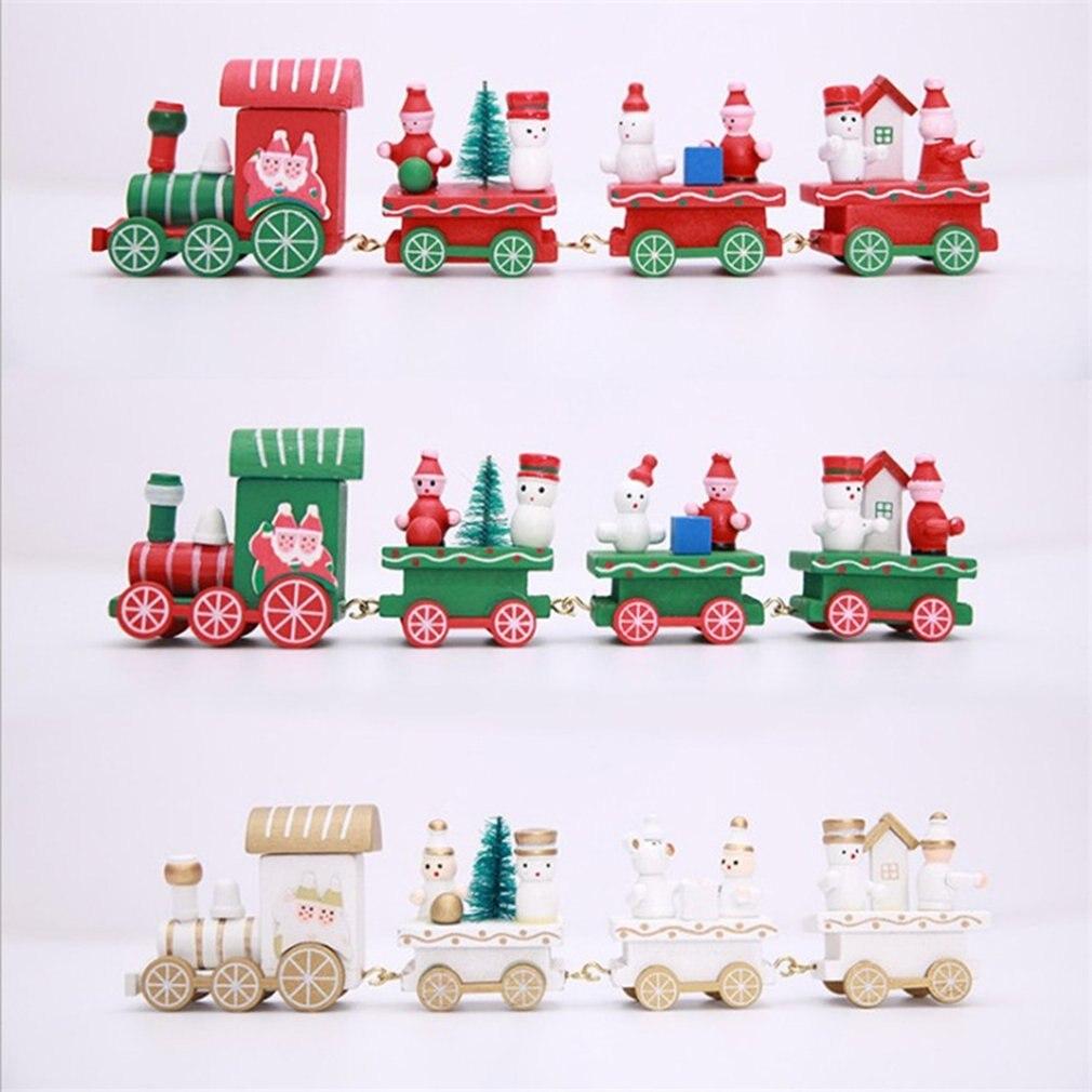 Popular Home Decor Gift Ideas For Christmas: Wooden Christmas Decor Ornaments Christmas Wooden Train