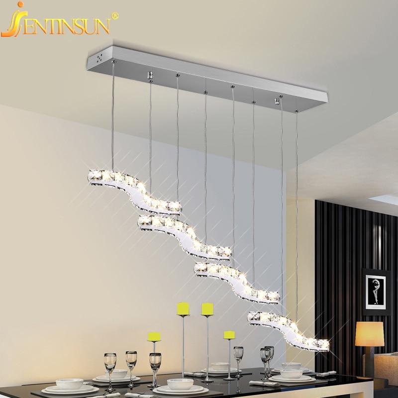୧ʕ ʔ୨36 w Lámparas colgantes moderno oro cristalino claro Lámparas ...