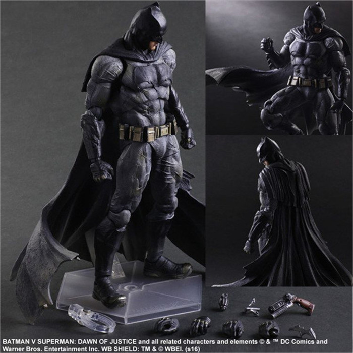 Batman Action Figures Play Arts Kai Dawn of Justice PVC Toys 270mm Anime Movie Model Heavily-armored Bat Man Playarts Kai GS0167 купить