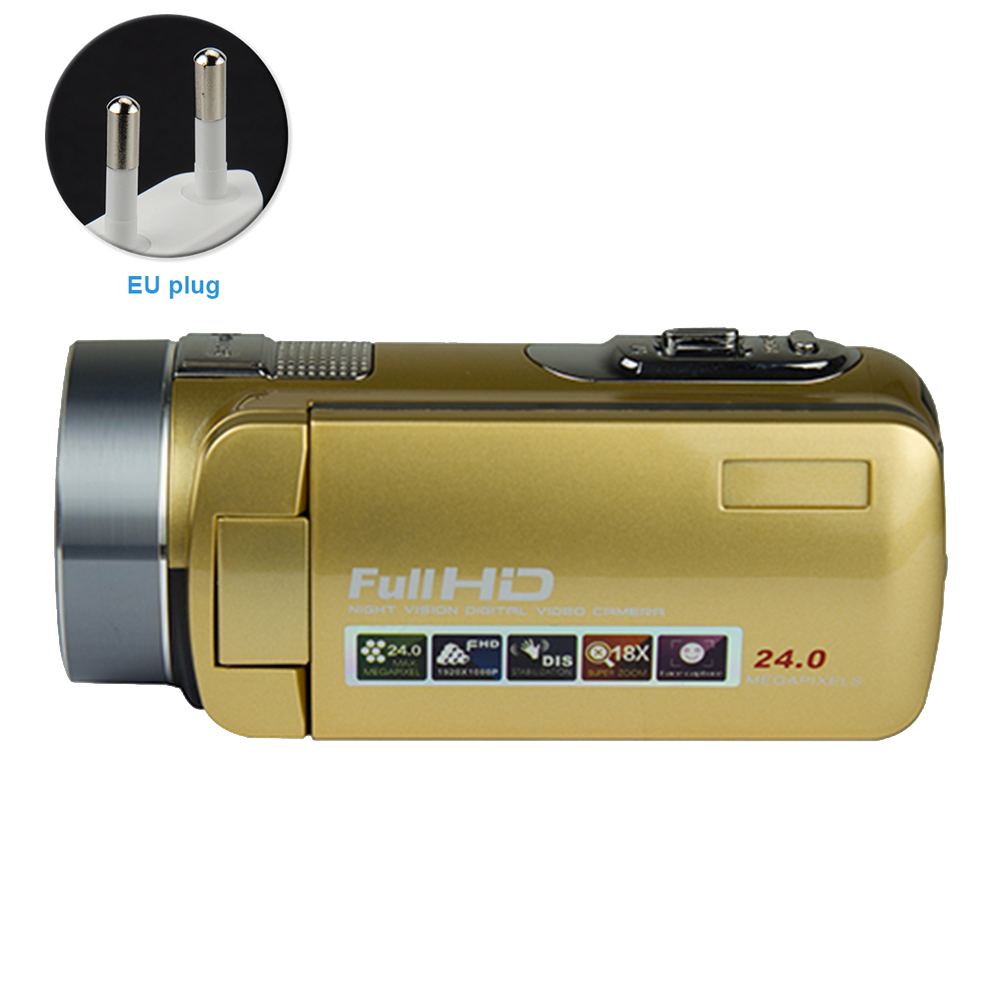 Recorder 24 Million Pixels Camera <font><b>Video</b></font> Camcorder Digital 16X Zoom With Plug Portable Handheld HD 1080P Durable Infrared image