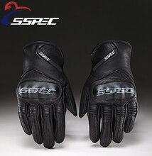SSPEC couro dedo cheio Luvas Luvas da motocicleta luvas de corrida equipamentos de proteção