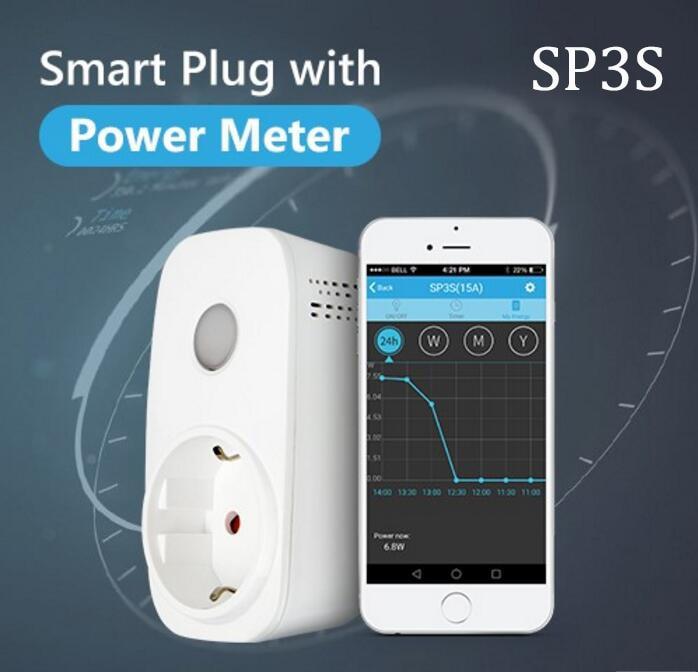 Broadlink SP3S Energie Monitor Smart Draadloze WiFi Socket - Elektronik pintar