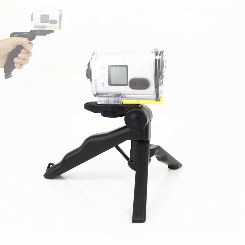 2in1 हैंडहेल्ड ग्रिप मिनी ट्राइपॉड और स्टैबिलाइजर सस्टेनेकम फॉर सोनी एक्शन कैम HDR-AS100V AS300R AS50 AS200V X3000R AEE स्पोर्ट कैमरा