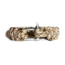 Модный плетёный шнур Паракорд браслет из нержавеющей стали homme