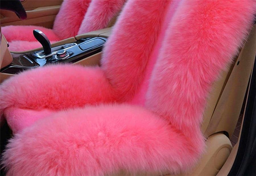 Австралийский натуральной овчины универсальное автокресло Подушки автомобиля спереди Чехлы для сидений мотоциклов + задняя крышка сидень...