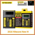 2016 New Nitecore I4 18650 Lithium Battery Charger Car Universal Digicharger for AA AAA Li ion 14500 26650 Batteries Charging