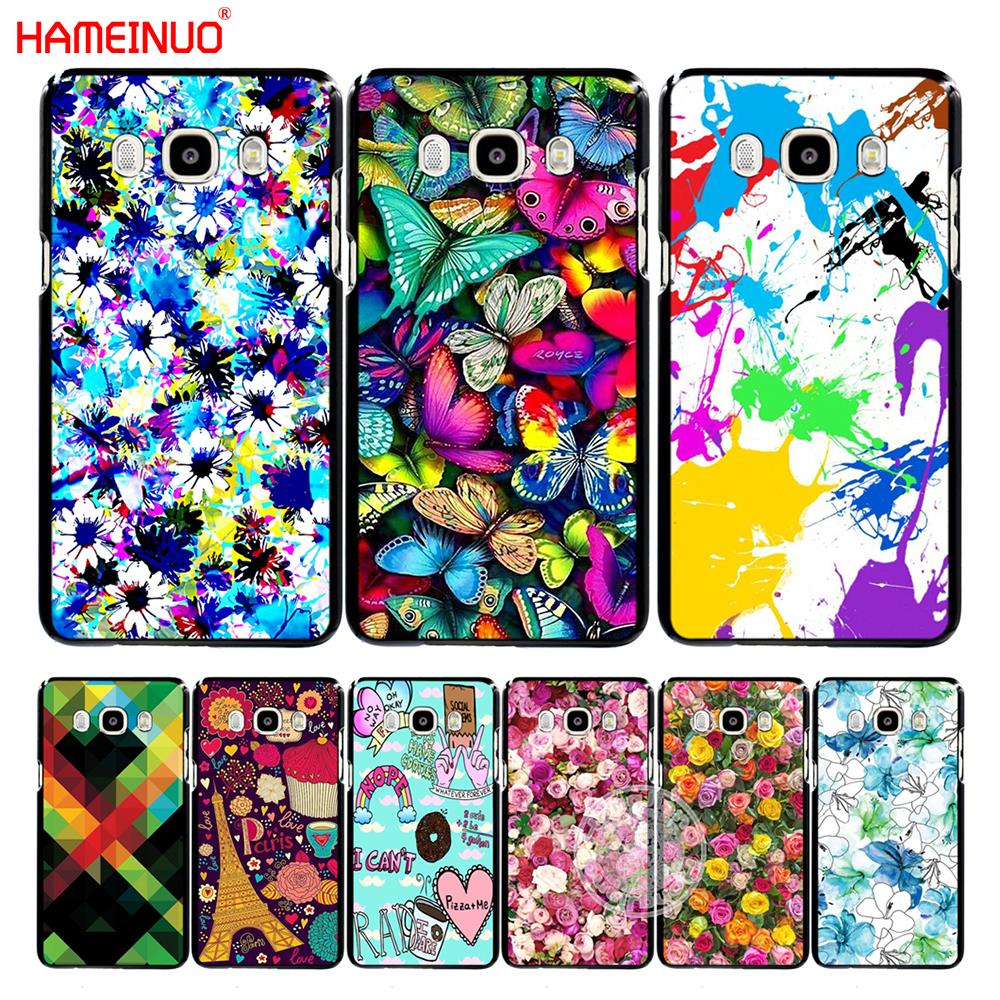 Hameinuo Colorful Butterfly Flower Background Cover Phone Case For