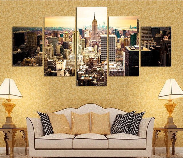 Fashion HD Printed New York City Canvas Painting Children\'s Room ...