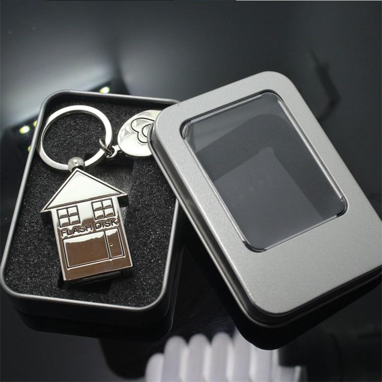 Custom logo USB 3.0 Cute Metal House Shape USB Flash Drive 8GB 16GB 32GB 64GB Usb Memory Stick Pendrive Gift Gifts