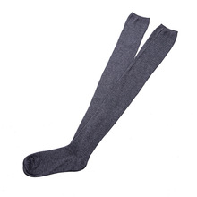 1 pair Solid Colors Knitted Sexy Stocking Women Warm Thigh High Over the Knee Socks Fashion Ladies Stockings one size
