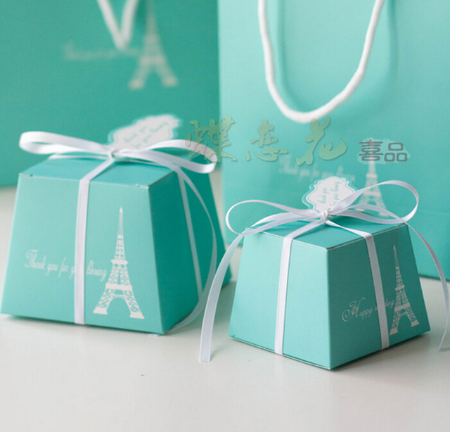 8ac6fbe796d 2015 Wholdsale Wedding Favors Large Tiffany Blue Candy Box Gift Boxes  cupcake Boxes ,Free Shipping