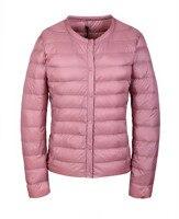 Розовый дутая куртка Ультралегкая пуховая куртка женская