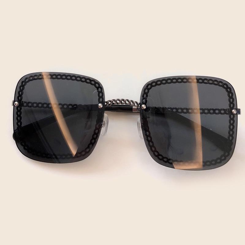 Weibliche no5 Shades Hohe Box Designer 2019 no2 Vintage Sunglasses Sunglasses no3 Sunglasses Sommer Qualität Marke Mit Sunglasses Square Sunglasses Mode No1 Für no6 Frauen Sunglasses Kette Sonnenbrille no4 zZvSwf