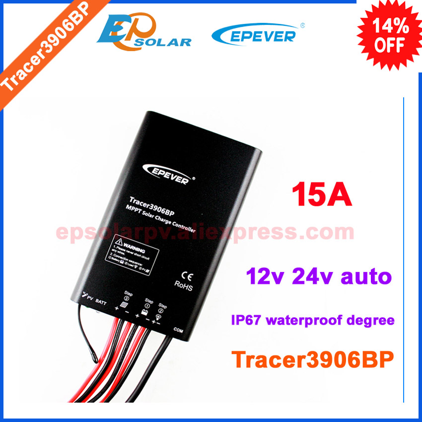 15A solar battery regulator controller Tracer3906BP waterproof IP67 EPEVER EPsolar apply to lithium battery 12v/24v