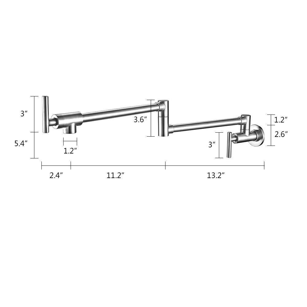 aliexpress com buy wall mount pot filler kitchen faucet 2016