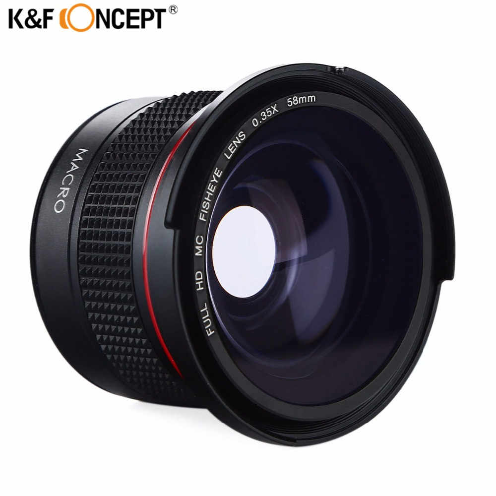 K&F CONCEPT HD 58mm 0 35x Fisheye Camera Lens Wide Angle
