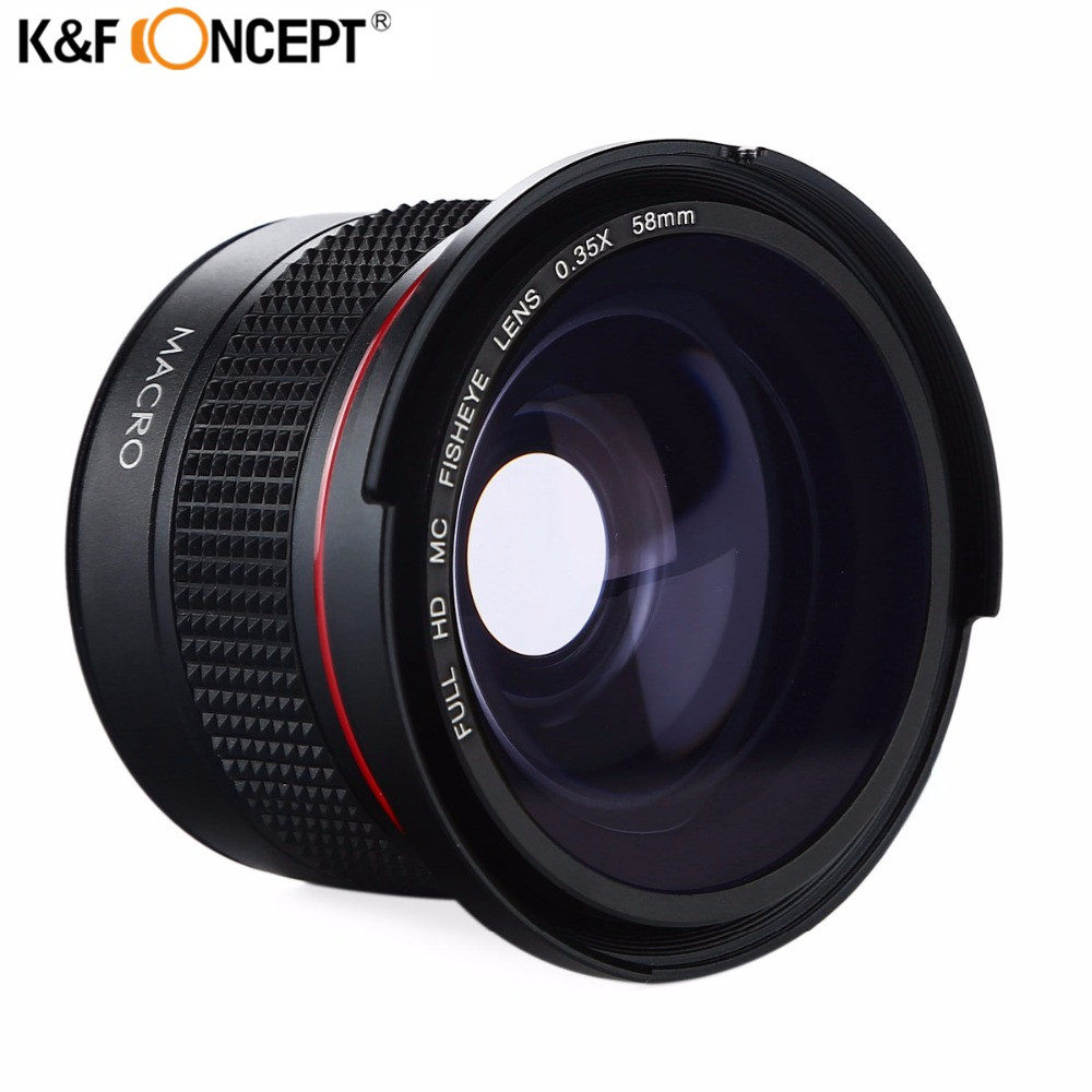 """""""K&F CONCEPT HD 58mm"""" 0.35x """"Fisheye"""" fotoaparato objektyvo - Fotoaparatas ir nuotrauka"""