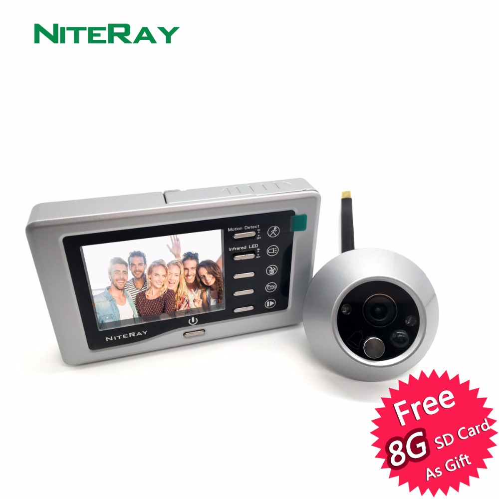 все цены на Strong IR Infrared Eye Door Doorbell Peephole Viewer Camera Video Door Viewer With Motion Sensor