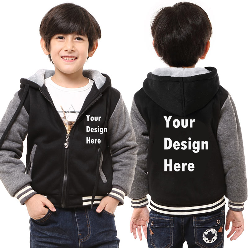Custom Print Your Own Logo Design Kids Boys Girls Hoodies Sweatshirts DIY Prosonalized Customize Hoodie Printing Drop Shipping