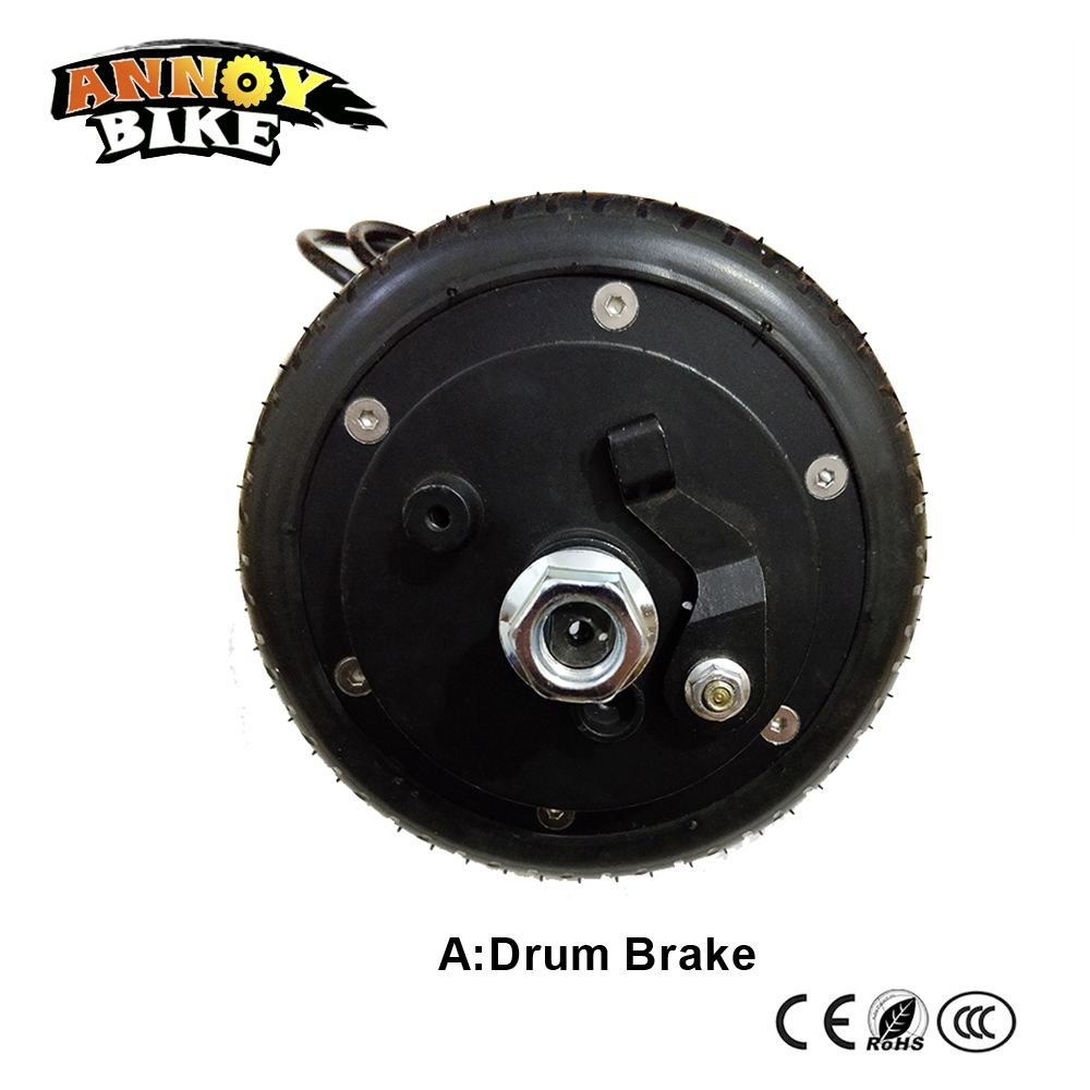 6'' Electric Wheel Hub Motor 36v 200w250w300w DC Double And Single Shaft Brushless Non-gear Hub Motor Inflate Free Tyle 12inch hub motor brushless 36v 350w double shaft electric bicycle motor motorcycle double shaft energy scooter wheel for ebike