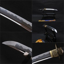 Full Tang Samurai Sword Sharp Knife  Fully Handmade High Carbon  Steel Japanese Tanto Metal Home Decoration