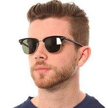 Classic Semi-Rimless Sunglasses Men's Wo