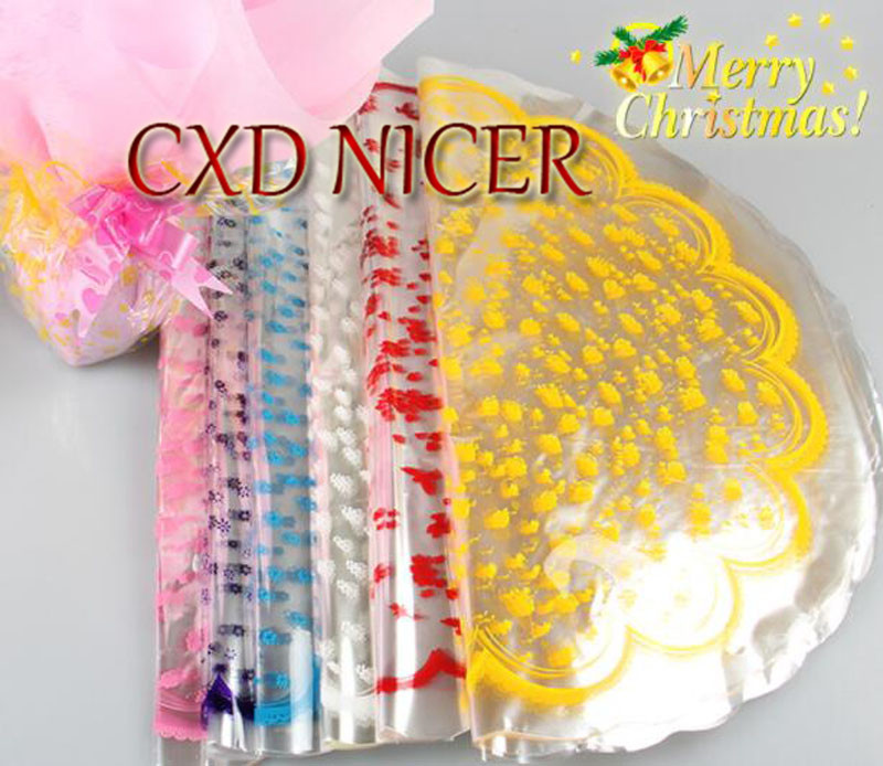 Flowers Packaging Materials Envelope Packaging Gift Cellophane Wrapping Paper Round Gift  Bouquet Paper Dd912