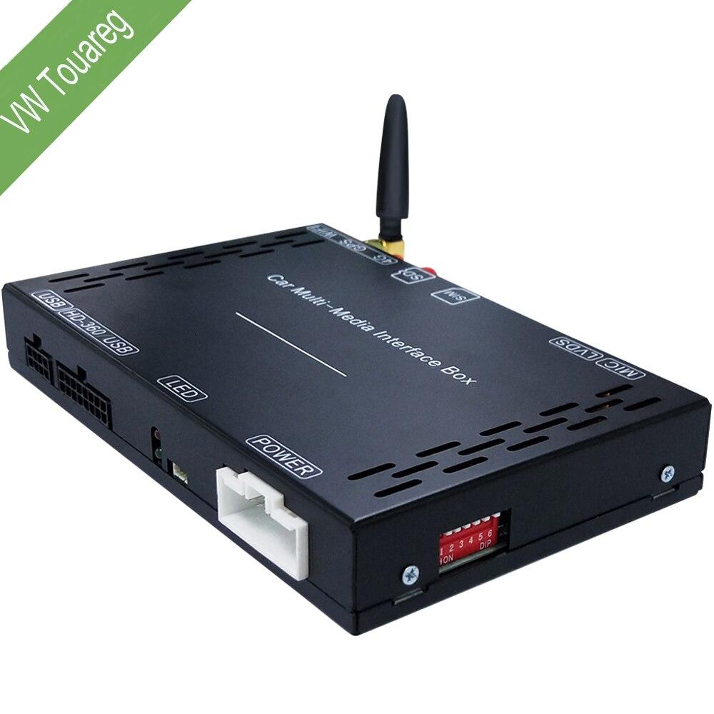 Voiture lecteur Multimédia android système boîte décodage box pour lecteur dvd de voiture pour VW Touareg (2011-2017) radio GPS