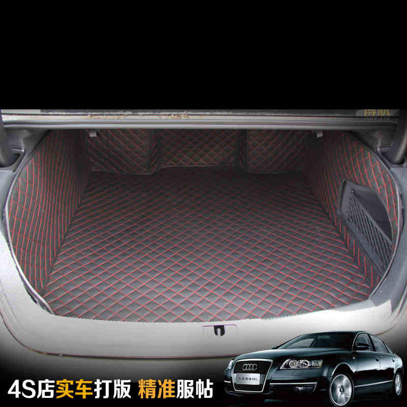 free shipping pu leather car trunk mat cargo mat for audi a6 c7 2011 2012 2013 2014 2015 2016 2017 sedan free shipping car interior refit the inner door handle decorative circle suitable for 2013 2015 audi q3 4pcs