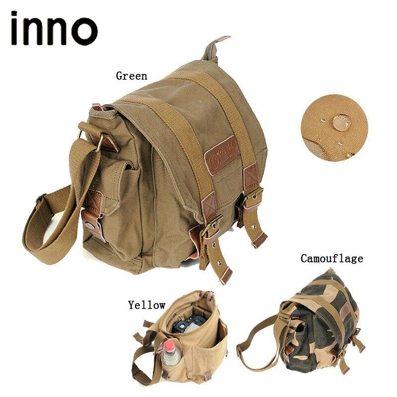 Portable Canvas Shoulder Bag DSLR font b Camera b font Shoulder Messenger Bag with Paitition Padded