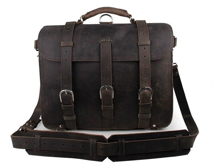 J.M.D Brand New Fashion Handbag Dark Grey Men's Shoulder Bag High Quality Crazy Horse Leather Shoulder Bag 7072J-1 dark grey nubuck leather handbag