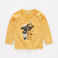 Children's shaun the sheep For Baby Girls Long Sleeve Tops Tees Toddler Boys Clothing Kids Clothes T Shirt b20