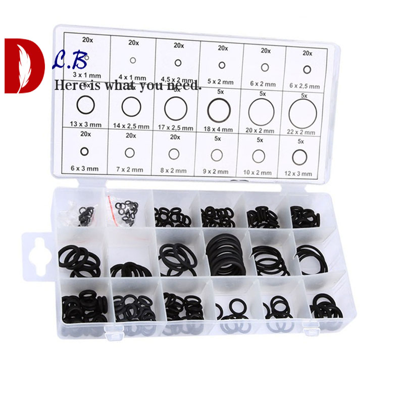 225 Piece Metric Nitrile O-Ring Assortment for Pumps /& Hydraulics