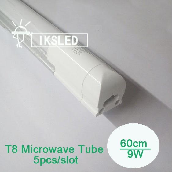 5pcs/lot 600mm new packing Sensor LED Microwave sensor led  tube t8 integrated 18w dfluorescent lamp super bright led blf188 blf188xr ceramic high frequency tube microwave tube microwave device