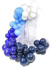 METABLE 100 Pcs 12/10 Inch Baby Blue Balloons Royal Navy Dark Frozen Birthday Party Supplies