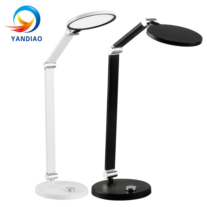 LED Desk Lamp Foldable Dimmable Rotatable Eye Care LED Touch-Sensitive Controller Writing Reading Table Lamp led student desk lamp 3 stage dimmable with touch switch brush pot design foldable and adjustable table lamp arm design