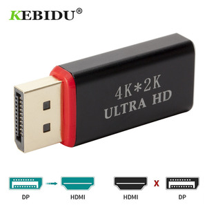 Image 2 - KEBIDU DP to HDMI Converter 4K*2K 30Hz Video Audio Connector Display Port to HDMI Adapter Female to Male for HDTV PC Wholesales