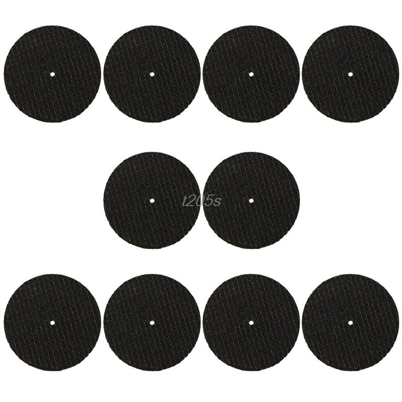 10pcs 38mm Reinforced Glass Fiber Abrasive Cutting Wheel Suit Tool+Drill Adapter Q17 Dropship