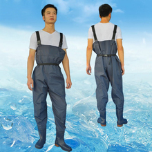 Ultra light leather Fishing Wader Additional Durability Breathable chest waders Fishing boots Waders respirant overalls FO165