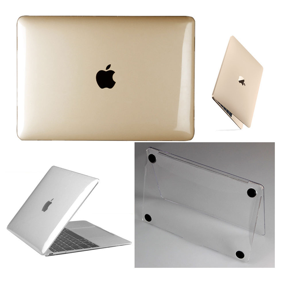 """Glossy Crystal Clear Hard Cover Case for Macbook Air Pro Retina 11 12 13 15/""""Inch"""