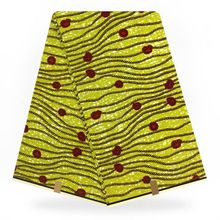 Yellow African traditional fabrics,West Africa ankara wax fabric for dress making 6 yards DF-226 crutchfield west african marine fisheries