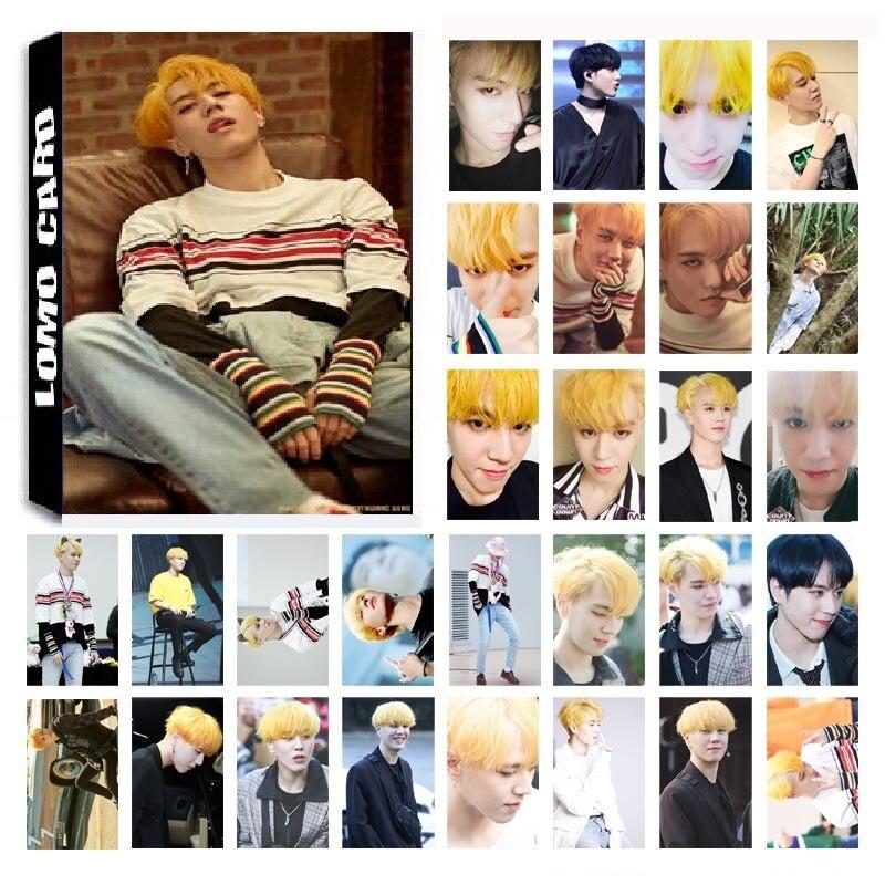 30Pcs/set KPOP GOT7 YuGyeom Single 03 FOR 7 Album HD Photo Card PVC Self Made LOMO Photocard