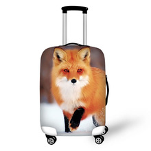 Купить с кэшбэком 2017 Cute fox Cover for Suitcase Bags Travel Luggage Accessories for Men's Women Waterproof Protection Suitcase Case Cover