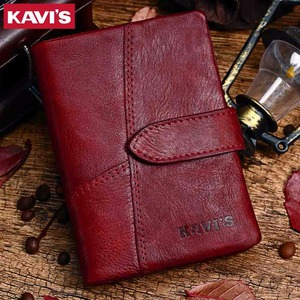 Image 5 - KAVIS 2020 Genuine Leather Women Wallet And Purses Coin Purse Female Small Portomonee Rfid Walet Lady Perse For Girls Money Bag