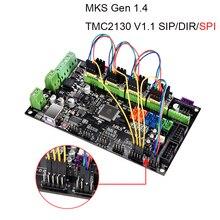 3D-принтеры MKS Gen V1.4 Управление доска Поддержка TMC2130 V1.1 SPI TMC2208 A4988 DRV8825 драйвер для RepRap RAMPS 1,4 Мега 2560 R3