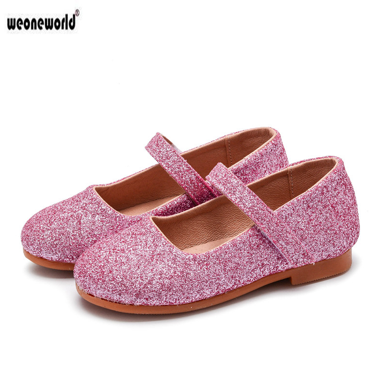 Aliexpress.com   Buy WEONEWORLD Girls Leather Shoes 2018 Spring Autumn New  Style Girl Elegant Princess Shoes Girls Dance Flats Daily Dress Shoes from  ... 3e6224cd7850