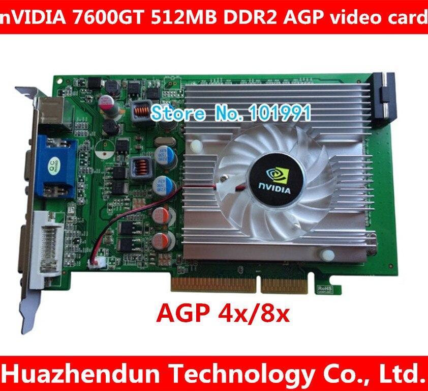 nVIDIA GeForce 7600GT 512MB DDR2 AGP 4X 8X VGA DVI Video Card